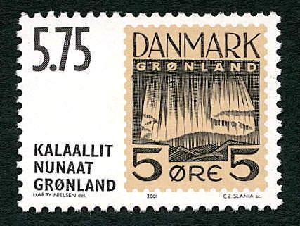 Aurorae On Stamps Greenland 2001